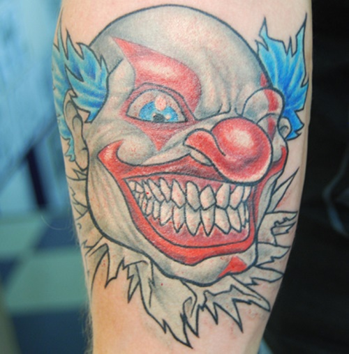 46 Evil Clown Tattoos And Their Mischievous And Dark Meanings