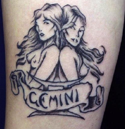 Gemini Tattoos For Women