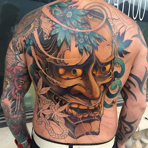 35 Oni Mask Tattoos With Mysterious and Powerful Meanings - Tattoos Win