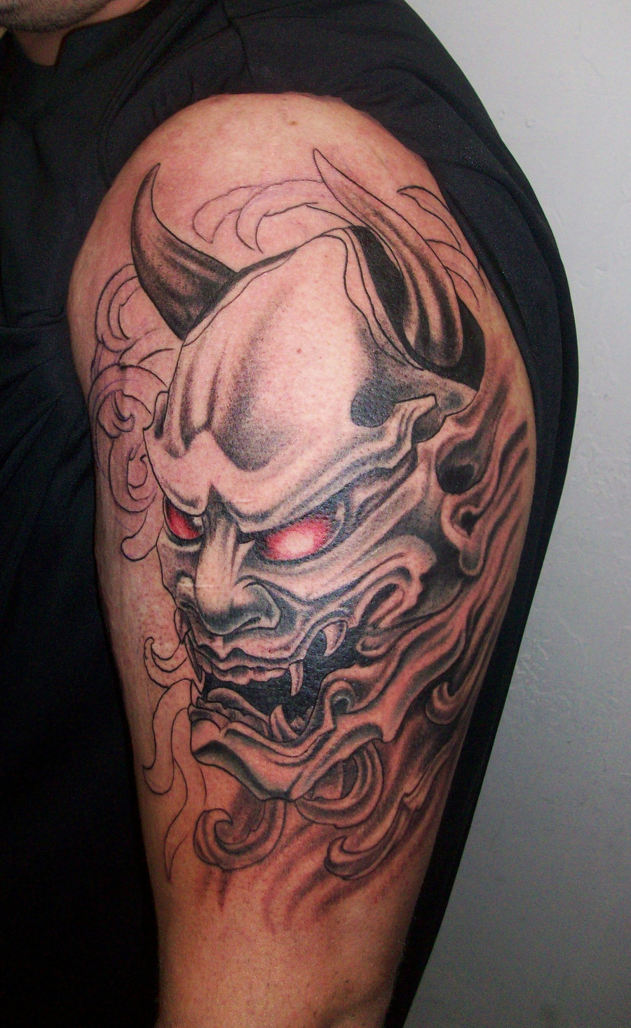35 Oni Mask Tattoos With Mysterious and Powerful Meanings ...