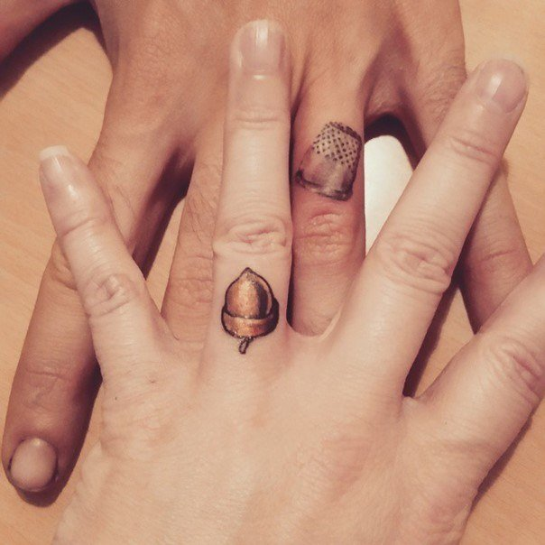 44 Wedding Ring Tattoos With Diversifying And Creative