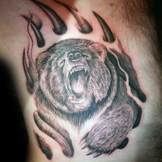 33 Bear Claw Tattoos With Varying Significance And Meanings Tattooswin
