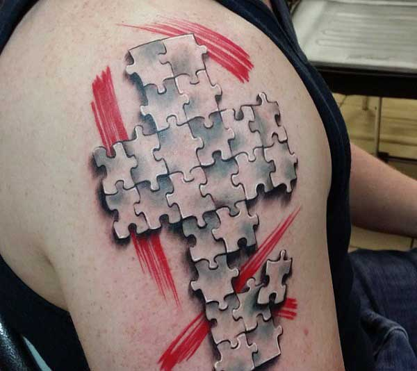 33d7a1d519018 46 Puzzle Piece Tattoos With Connecting Pieces And Meanings - Tattoos Win