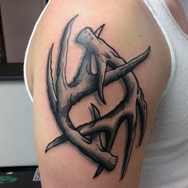 24 deer antler tattoos with powerful meanings tattoos win rh tattooswin com deer antler armband tattoo designs Deer Antler Letters Tattoos Designs