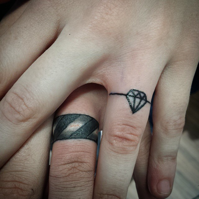 13f47c1cc 44 Wedding Ring Tattoos With Diversifying and Creative Meanings - Tattoos  Win