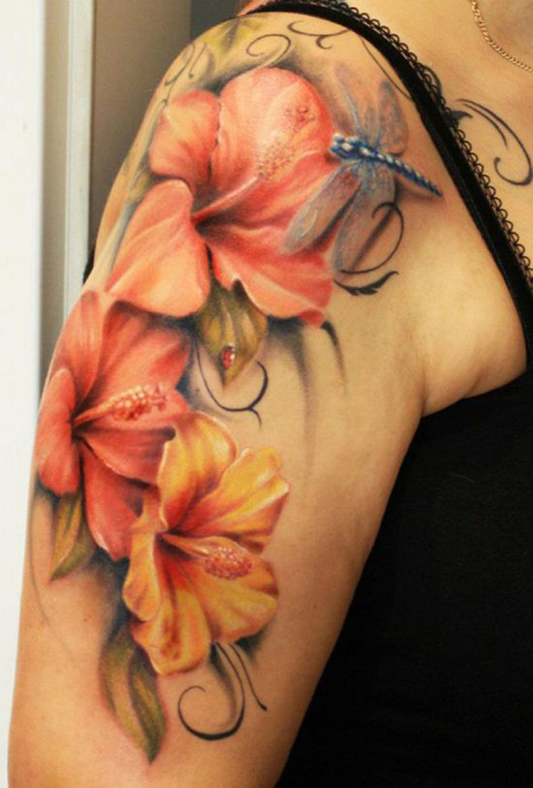33 Hibiscus Flower Tattoos With Unique And Colorful Meanings