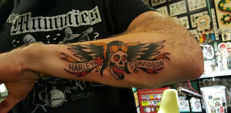 681d6c585 29 Harley Davidson Tattoos With Individual Expression and Meanings ...