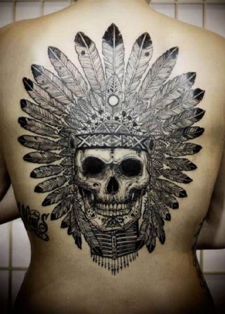 ce74a521f 37 Indian Skull Tattoos and Their Powerful Meanings - Tattoos Win