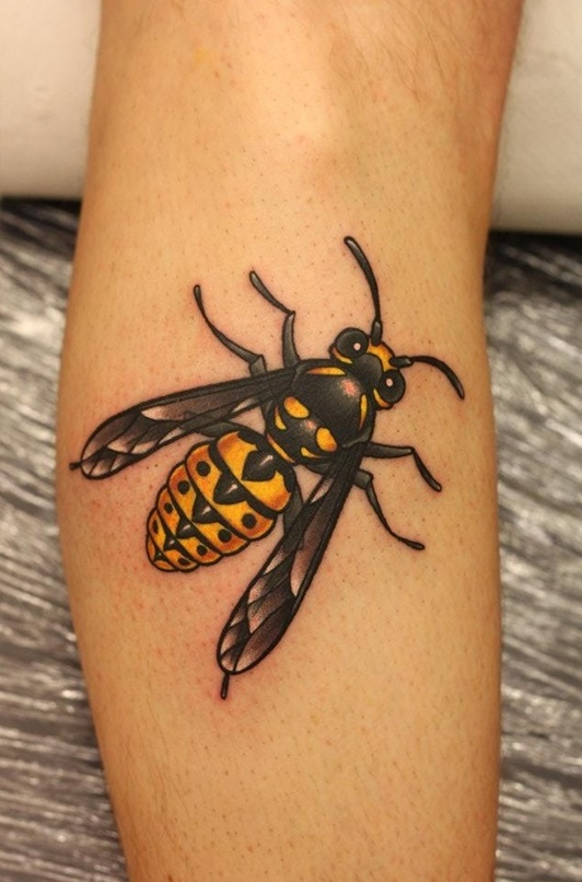 4a17f776de6f5 37 Honey Bee Tattoos With Mysterious Meanings - Tattoos Win