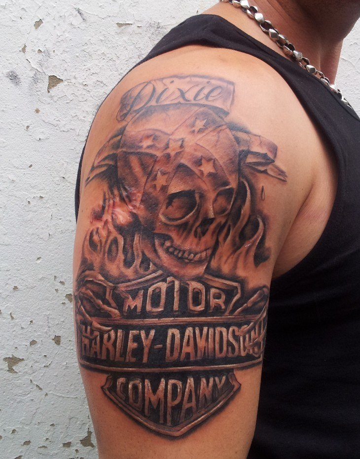 29 Harley Davidson Tattoos With Individual Expression and Meanings