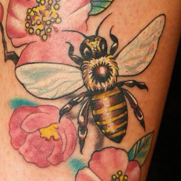 37 Honey Bee Tattoos With Mysterious Meanings - Tattoos Win