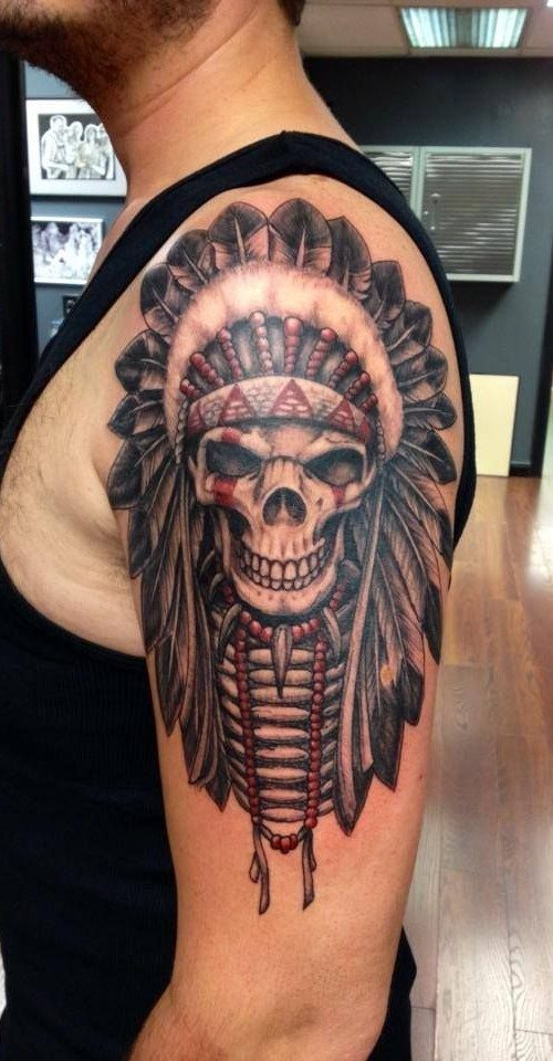 37 Indian Skull Tattoos and Their Powerful Meanings - Tattoos Win
