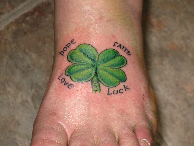 30 Shamrock Tattoos With Symbolic Representation - Tattoos Win