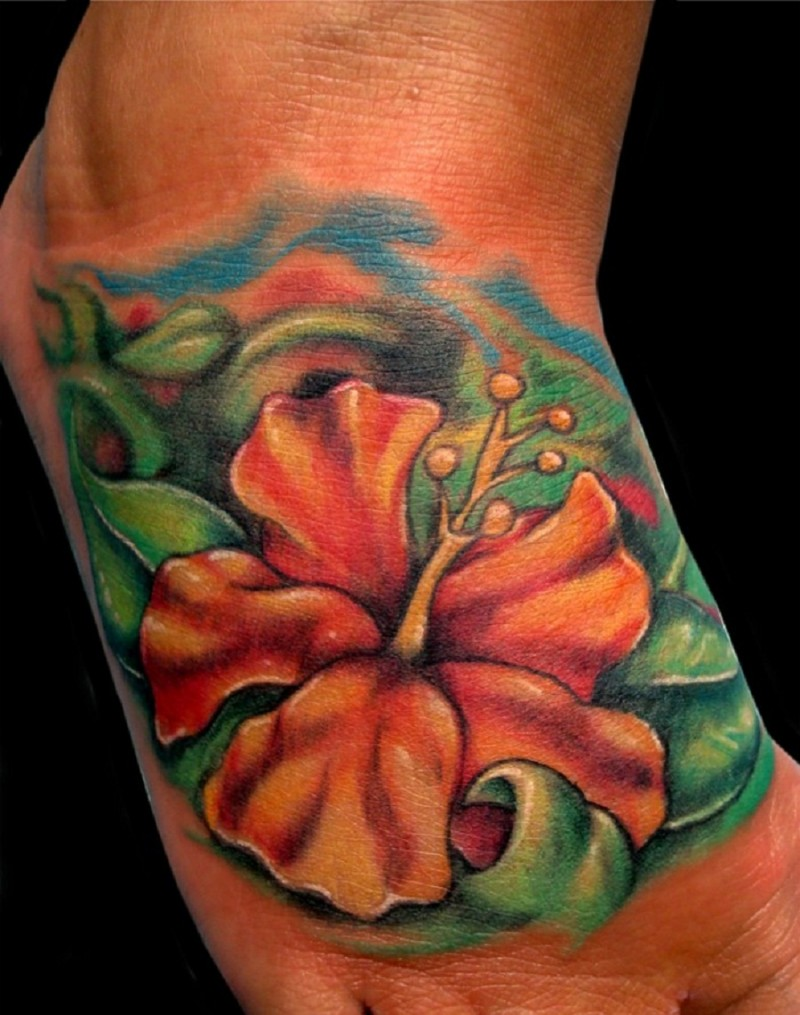 33 hibiscus flower tattoos with unique and colorful meanings swipe leftright to see more izmirmasajfo