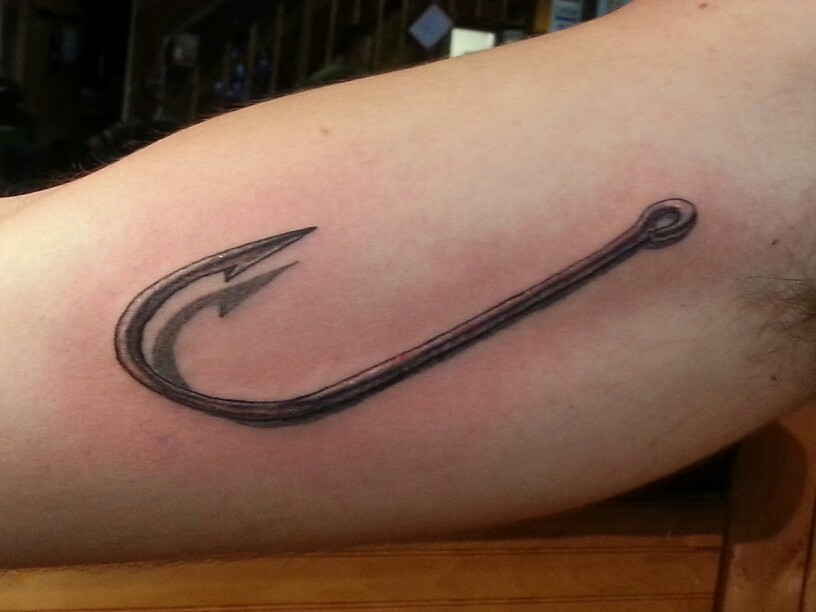 Fish hook infinity tattoo images for Fish and hook