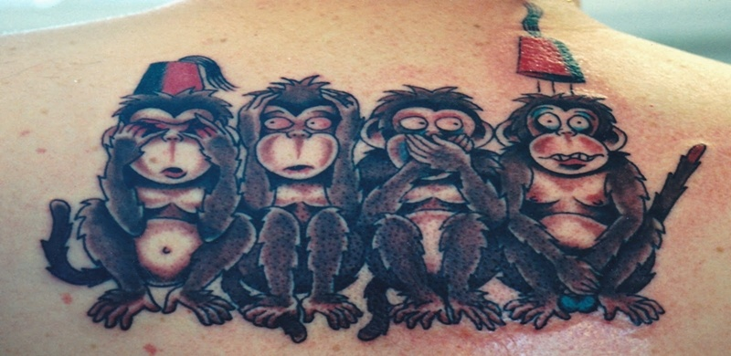 73aa70eed0e67 Monkey Tattoos and Their Fun and Creative Meanings - Tattoos Win