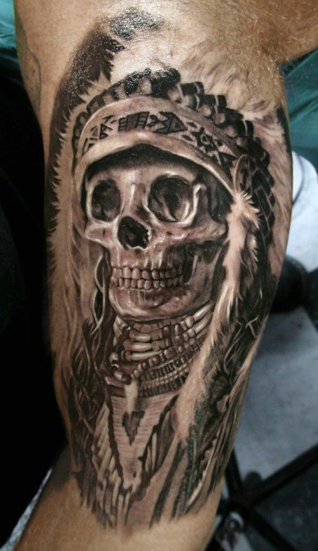 4383c22f3b16c 37 Indian Skull Tattoos and Their Powerful Meanings - Tattoos Win