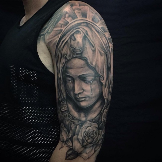 41 Virgin Mary Tattoos With Religious Connections and Meanings ...