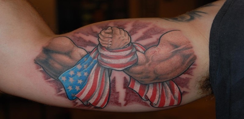 american flag tattoos with patriotic and symbolic meanings and associations tattoos win. Black Bedroom Furniture Sets. Home Design Ideas