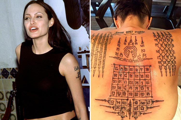 List of All Angelina Jolie Tattoos and Their Meanings ...