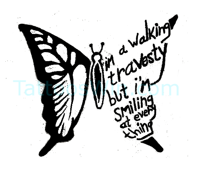 New Butterfly Tattoo Desings With Quote