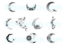 Crescent Moon Tattoo Designs