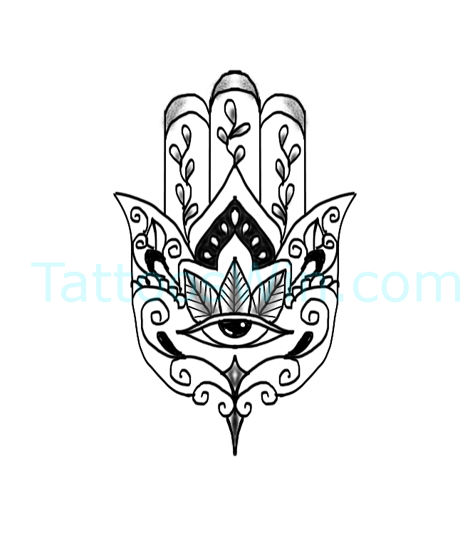 Original and New Hamsa Tattoo Designs