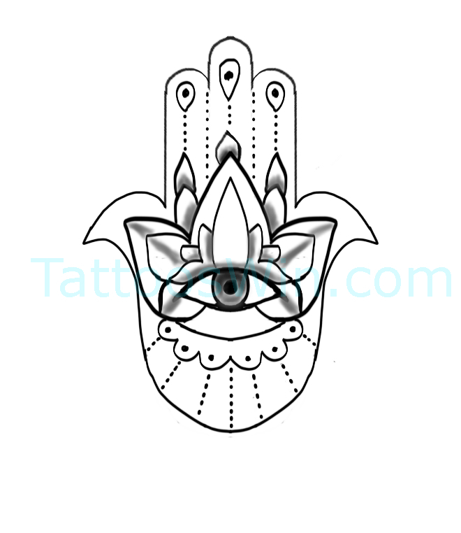 New Original Hamsa Tattoo Designs
