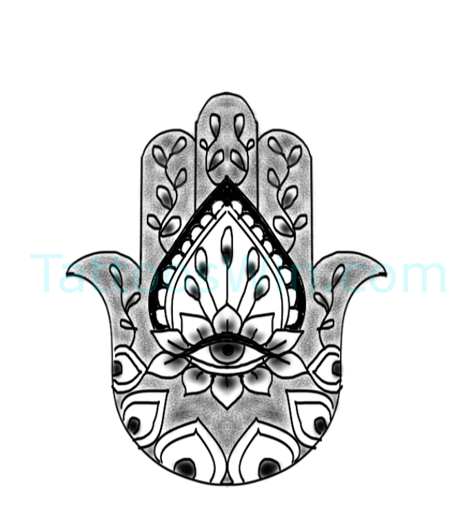 Original and New Hamsa with Evil Eye Tattoo Designs