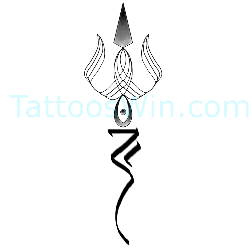 Trishul Tattoo Designs