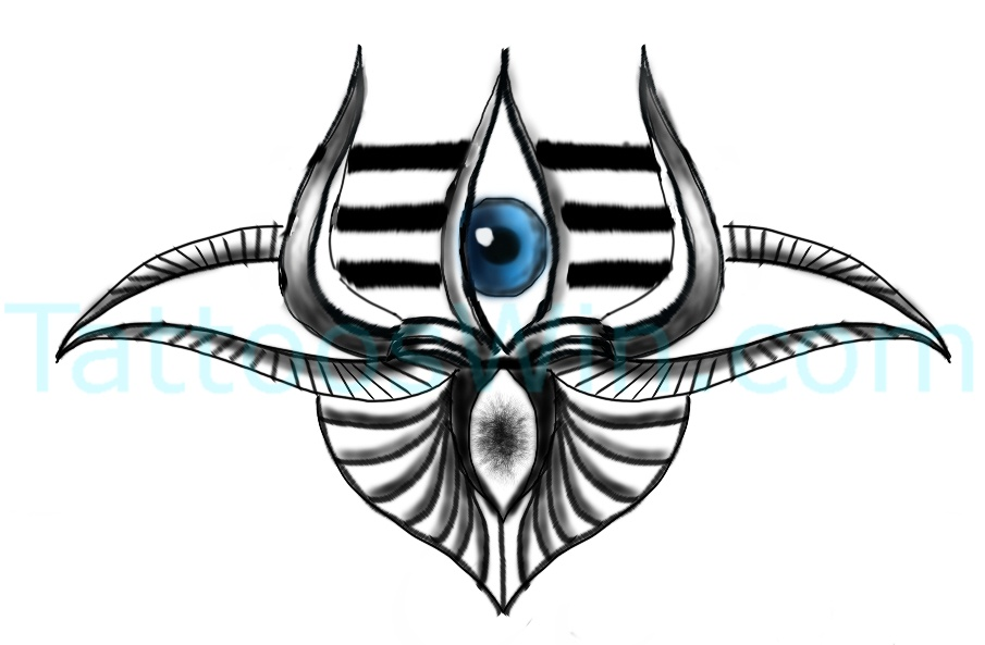 Trishul Third Eye Tattoo Designs