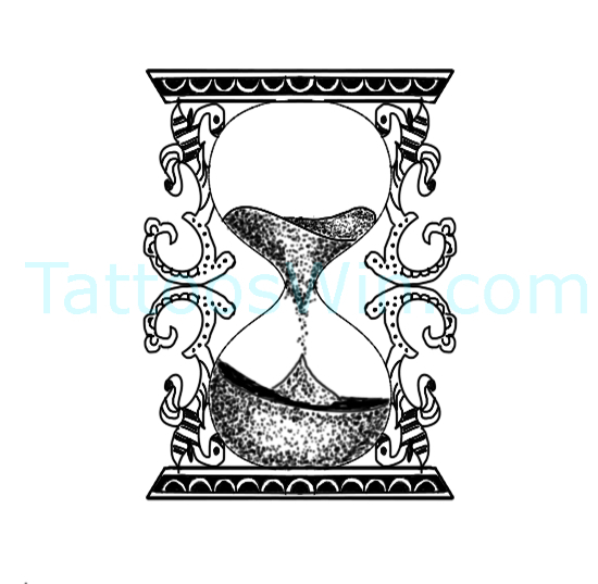 Hour Glass Tattoo Design Ideas