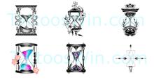 Hour Glass Tattoo Design Ideas