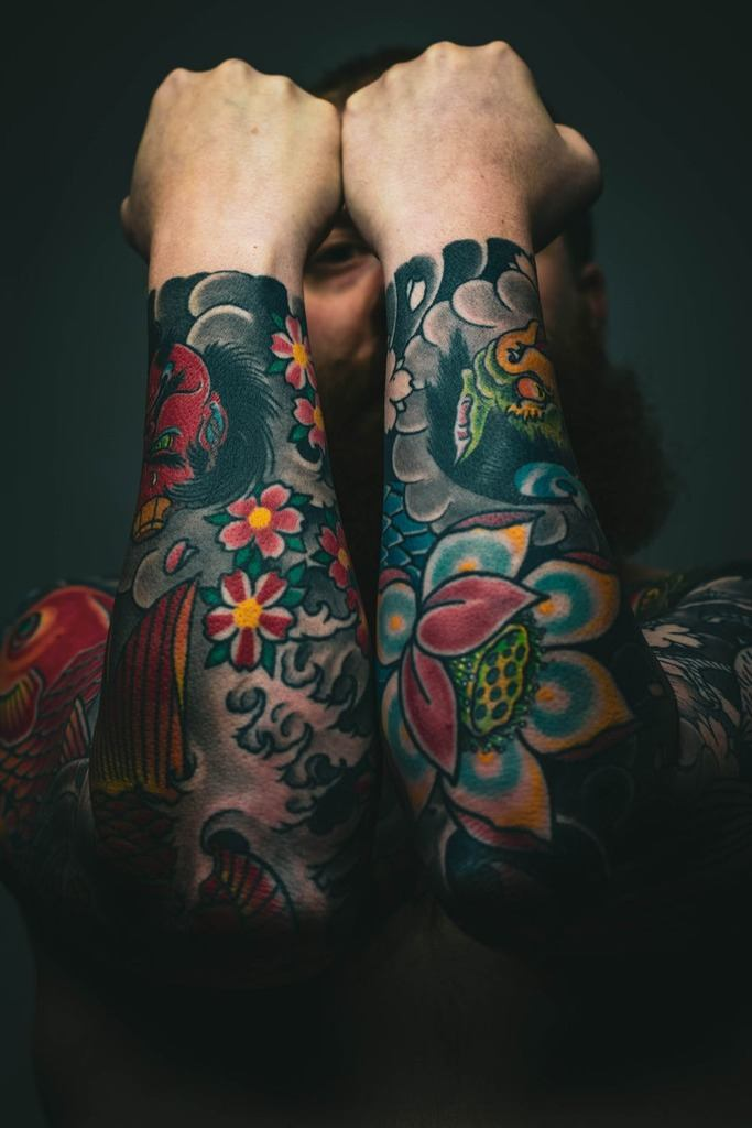 Lotus Tattoo On Sleeves
