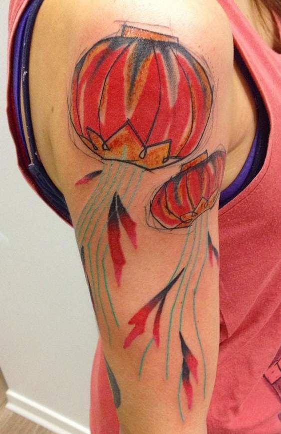 Chinese/Japanese Lantern Tattoo