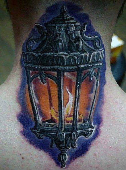 Lantern Tattoo with Flame
