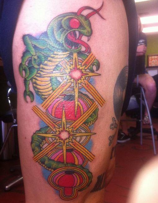 Centipede Tattoo Colorful