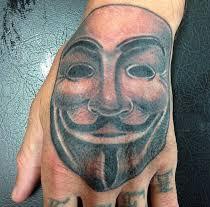 V for Vendetta Mask Tattoo