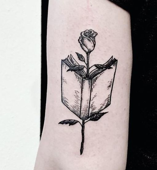 Book With Rose Tattoo