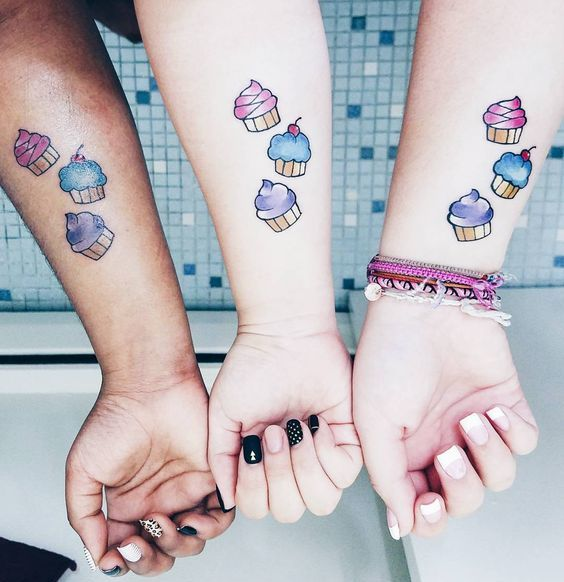 Ice Cream tattoo friends