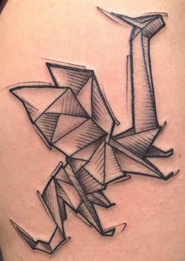 Origami Dragon Tattoo