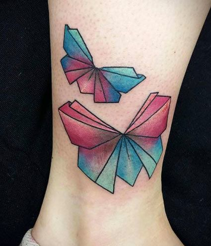 Origami Butterfly Tattoo