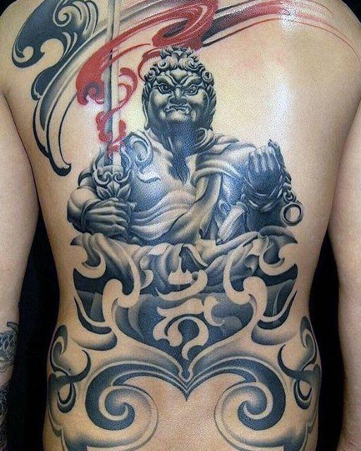 Fudō Myō-ō Tattoo On Back