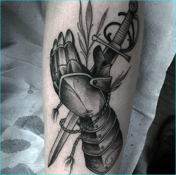 Sword Tattoo On Leg