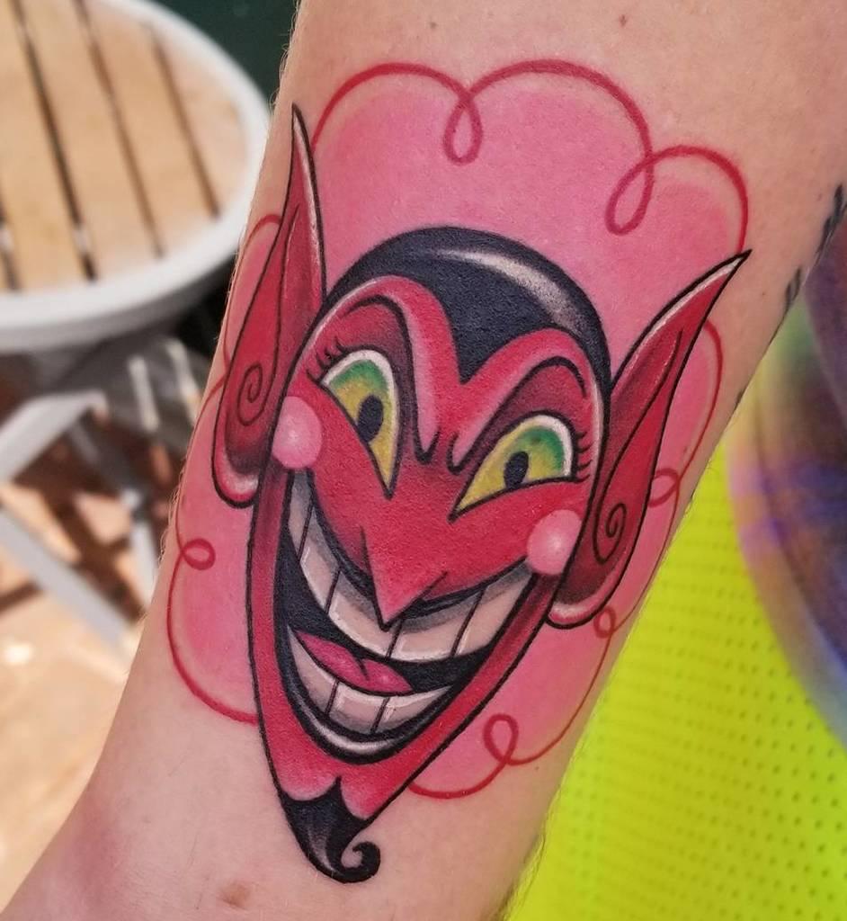 Powerpuff Girls HIM Tattoo On Hand