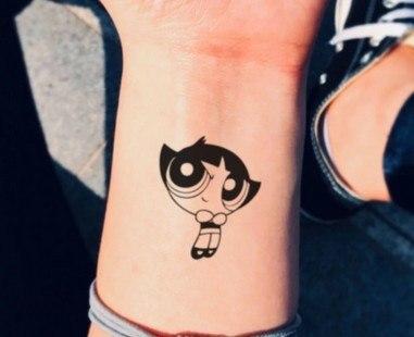 Powerpuff Girls Buttercup Tattoo On Hand