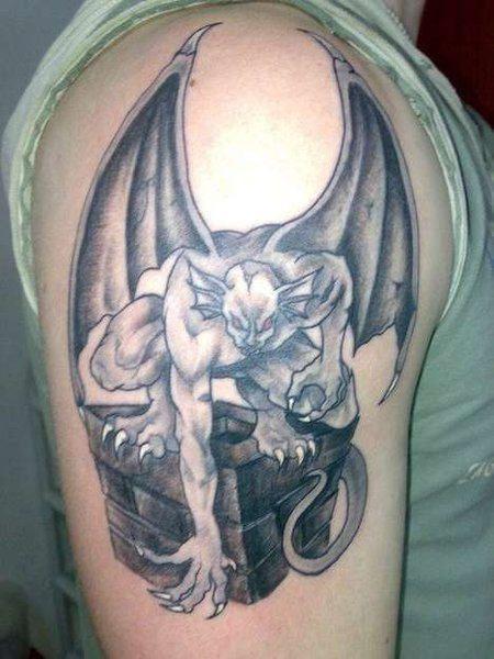 Gargoyle Positions Tattoo for Men