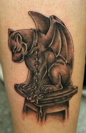 Gargoyle Tattoo on hand