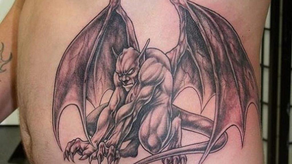 Gargoyle Tattoo on body