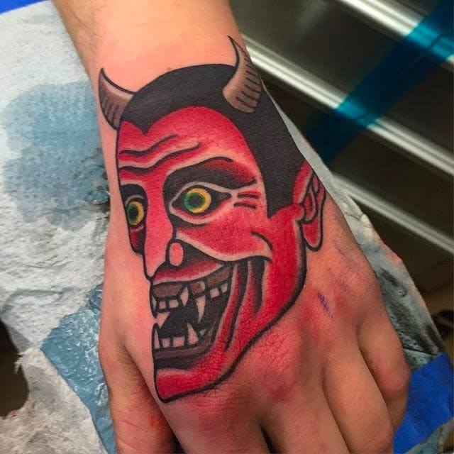 Gargoyle Tattoos on hand